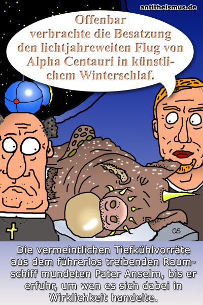 Pater Anselms Weltraummission: Raumschiff - Tiefgekuehlt