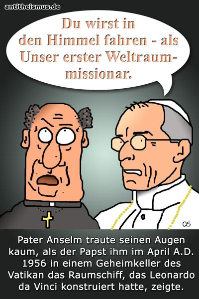 Pater Anselms Weltraummission: Vatikan