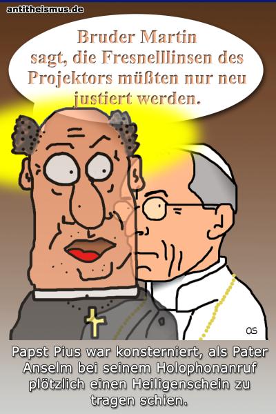 Pater Anselms Weltraummission: Vatikan - Heiligenschein