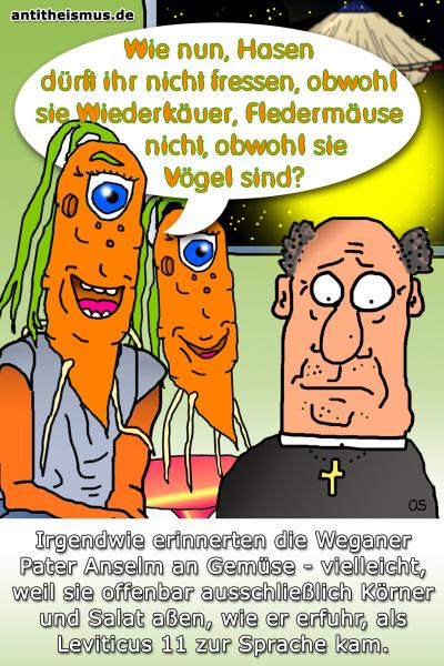 Pater Anselms Weltraummission: Weganer - Wiederkaeuer